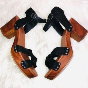 Lucky Brand Chunky Heel Platforms 10